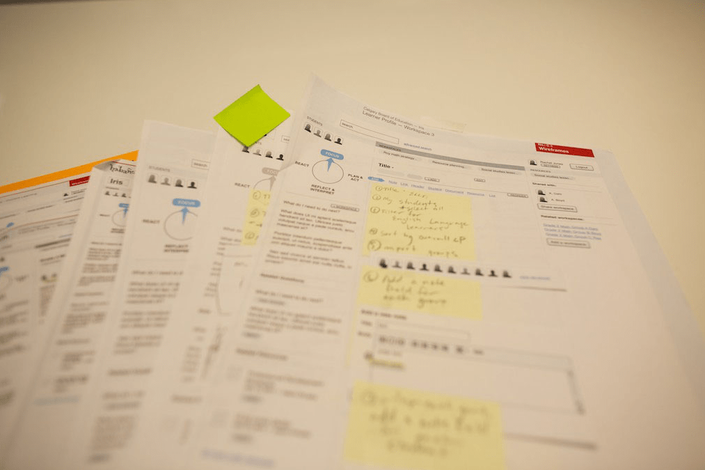 Paper prototyping, sketch, UX design, Habanero