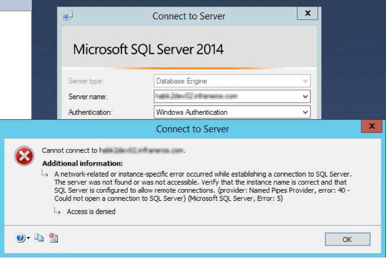 TCP/IP is disabled by default in Microsoft SQL Server 2014