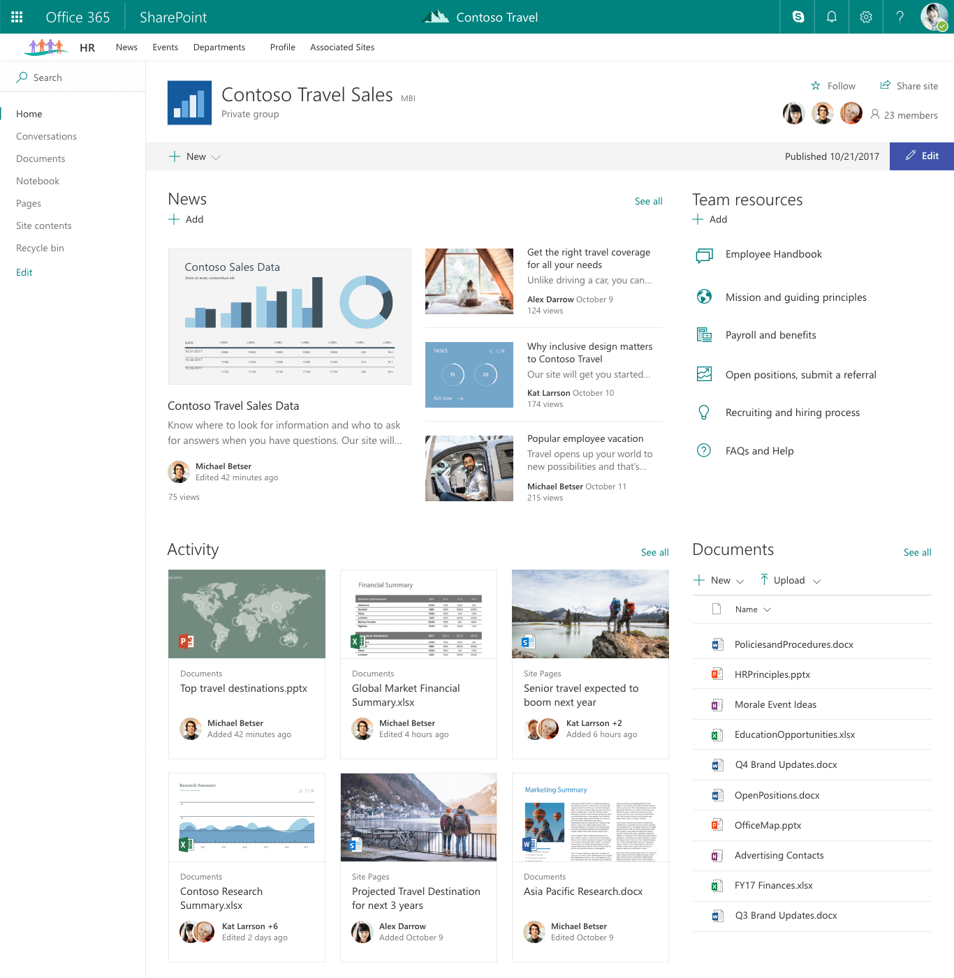 how to create a landing page in sharepoint