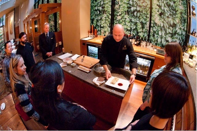 Food demo at Four Seasons Yew Restaurant