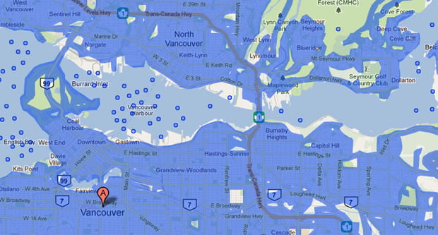 Google Map Vancouver